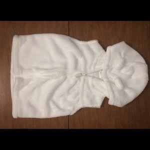 Carter's Sz 24M Fuzzy Sleeveless Hooded ZIP Vest